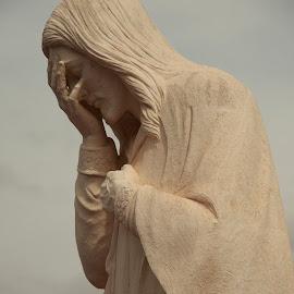Jesus Wept by Jennifer  Loper  - Buildings & Architecture Statues & Monuments ( murrah federal building, statue, jesus, okc bombing, april 19 1995, monument )