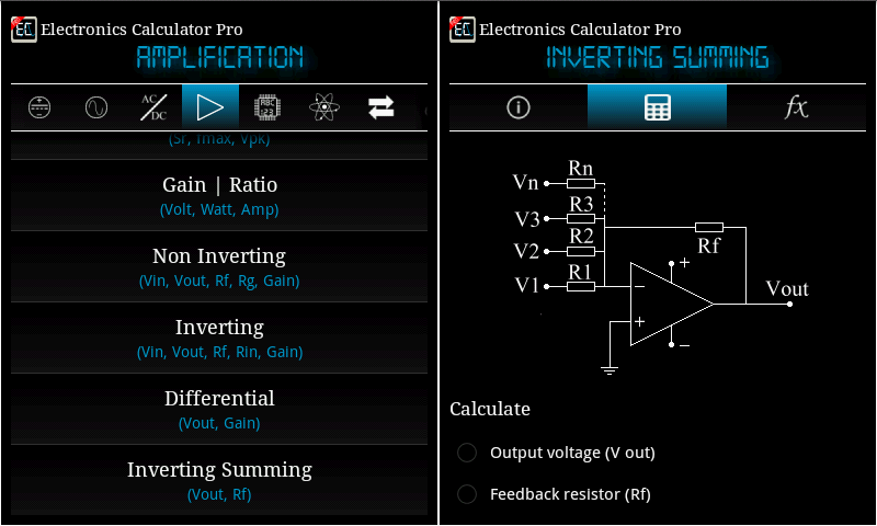 Electronics Calculator Pro Screenshot 17