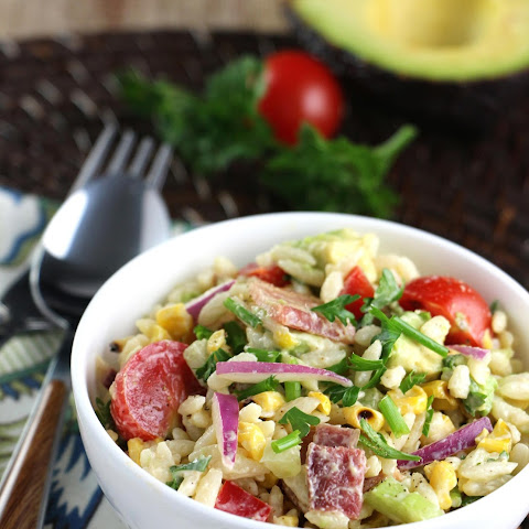 Orzo, Bacon and Charred Corn Salad with Chili-Lime Dressing