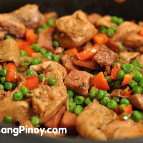 Easy Ham and Green Peas Sauté