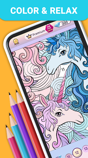 Premium Coloring Book - color by number for adults
