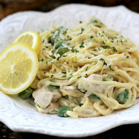 Creamy Lemon Pasta with Chicken & Asparagus
