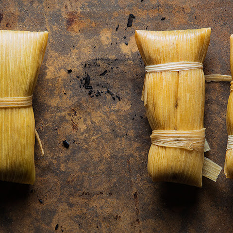 Chicken-and-Poblano Tamales