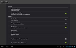 Screenshot of WebDAV Navigator