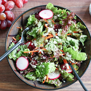 Red Salad with Lemony Vinaigrette