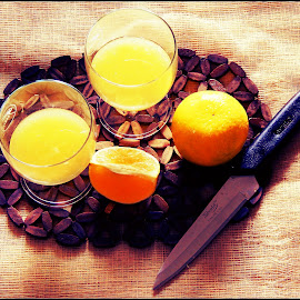 Mimosa. by Sreyoshi Saha - Food & Drink Eating ( still life, eating, fruits and vegetables, drinks, lemon )
