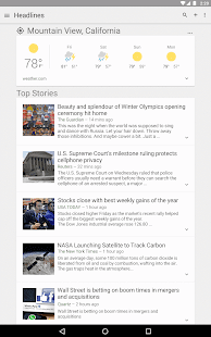 Google News & Weather APK for Blackberry