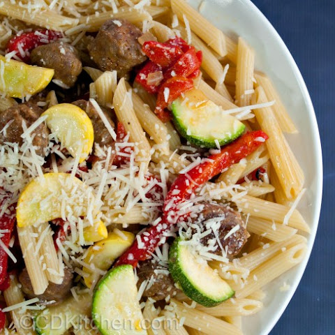 Penne with Sausage and Roasted Red Peppers