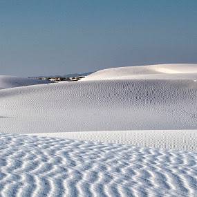 White Sands Layers by Terry Scussel - Landscapes Deserts ( desert, sand layers, white sands national monument, sand dunes )