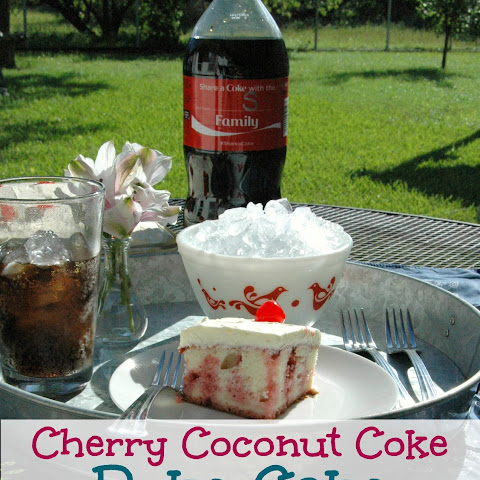 Cherry Coconut Coke Poke Cake
