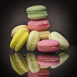 Macarons by Sam Song - Food & Drink Candy & Dessert ( colour, sweet, color, colouring, french, dessert )