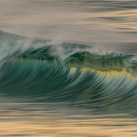 Shiner by Clive Wright - Landscapes Waterscapes ( green, ocean, shiny, water, sea, wave, shine )