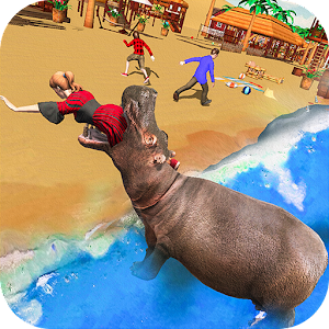 Angry Hippo Attack Simulator-City & Beach Attack For PC / Windows 7/8/10 / Mac – Free Download