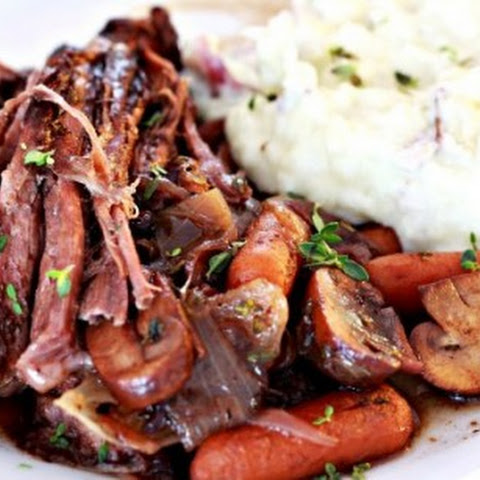 Mushroom and Blueberry Balsamic Pot Roast