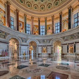 Elks National Memorial by John Williams - Buildings & Architecture Public & Historical ( elks memorial, rotunda, chicago, elks club, interior, architecture )