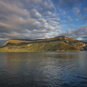 Destination autumn by Inna Cleanbergen - Landscapes Mountains & Hills ( clouds, sky, autumn, landscape, fjord, norway )