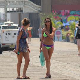 Walking the boardwalk by Dominick Darrigo - People Street & Candids