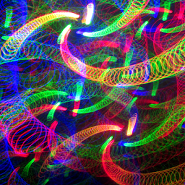 Spring your way there by Jim Barton - Abstract Patterns ( laser light, colorful, light design, spring your way there, laser design, springs, laser, laser light show, light, science )