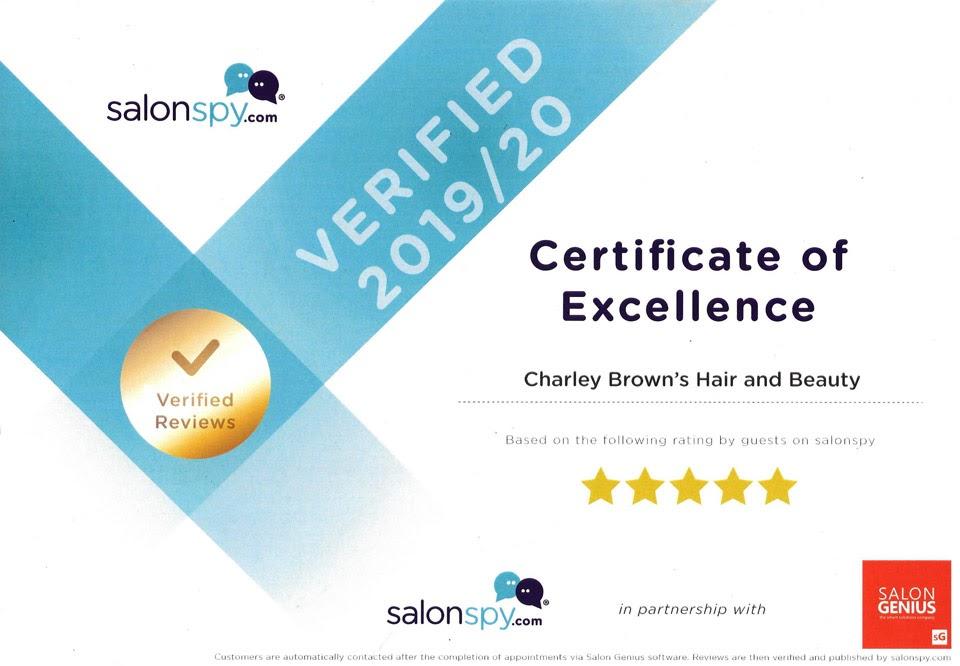Salon Spy - 5 star certificate