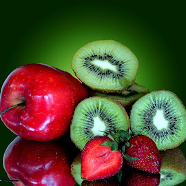 Apple-kiwi-straw berry by Asif Bora - Food & Drink Fruits & Vegetables (  )