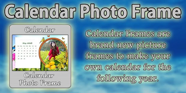 Calendar Photo Frame - screenshot