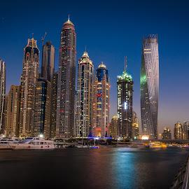 by Muhannad Salem - City,  Street & Park  Night ( jbr, dubai, dubai marina, city at night, street at night, park at night, nightlife, night life, nighttime in the city )