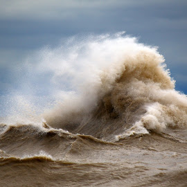 Lake Erie Tempest by Micheal  Yates - Nature Up Close Water ( water, rough waters, lakes, storms, lake erie )