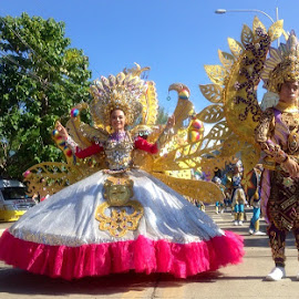 Festival Parade by Dickson   Shia - People Street & Candids ( dancing, parade, colorful, sunny, street )