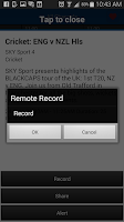 Screenshot of SKY TV NZ
