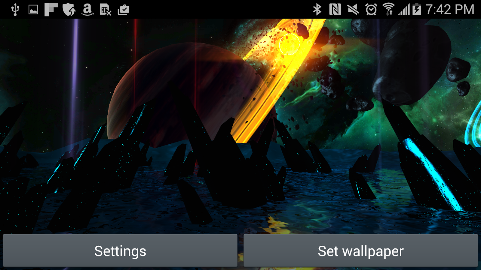 Far Galaxy 3D Live Wallpaper Screenshot 13