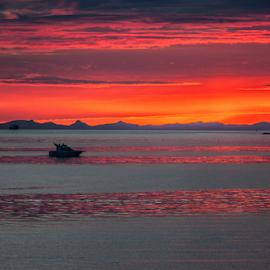 Reykjavik, after midnight. by Arni Thor Sigmundsson - Transportation Boats