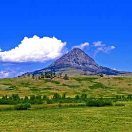 Haystack Butte  by James Oviatt - Landscapes Mountains & Hills