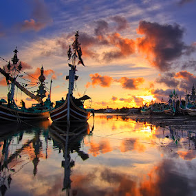 Beauty Sunset by Gus Mang Ming - Landscapes Sunsets & Sunrises ( foul weather,  )