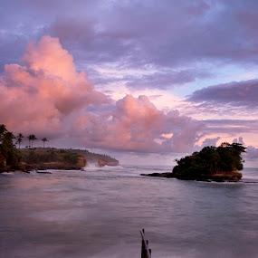 twilight zone by Jenni Ertanto - Landscapes Beaches ( water, sunset, beach, landscape, rainbow )