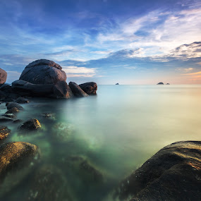 The Sea by Arthit Somsakul - Landscapes Waterscapes ( cloud, sea, rock )