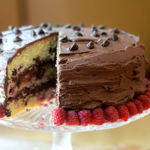 Raspberry Chocolate Chip Cake