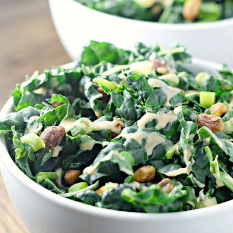 Kale Salad With Miso Dressing and Pistachios