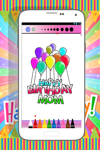 android Happy Birthday Coloring Book Screenshot 3
