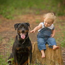 Brutus  by Wendy Berning - Babies & Children Child Portraits ( love, child, logan, dog, kid )