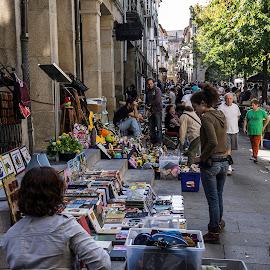 Open air market in city of Pontevedra by Frank Barnitz - City,  Street & Park  Markets & Shops ( market, open air, pontevedra )