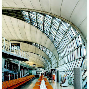 Airport Gates  by Pom Wanchart - Buildings & Architecture Architectural Detail