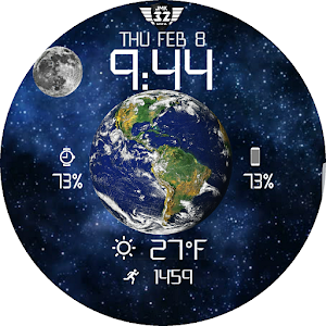 Download ORBIT MOON Animated Watchface for WatchMaker For PC Windows and Mac