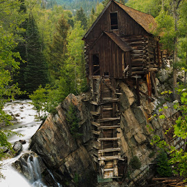 Crystal Mill by Trevor Hales - Buildings & Architecture Decaying & Abandoned ( water, mill, building, wood, waterfall, colorado, river,  )