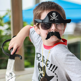 pirate boy by Kimberley Leahy - Babies & Children Children Candids ( child, birthday, costume, candid, son, fun, party, canon eos, boy, portrait, pirate )