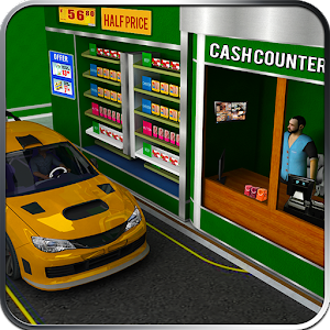 Drive Thru Supermarket 3D Sim Icon