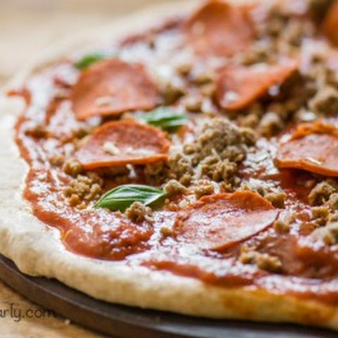 Easy Vegan Pepperoni Pizza with Easy Homemade Crust