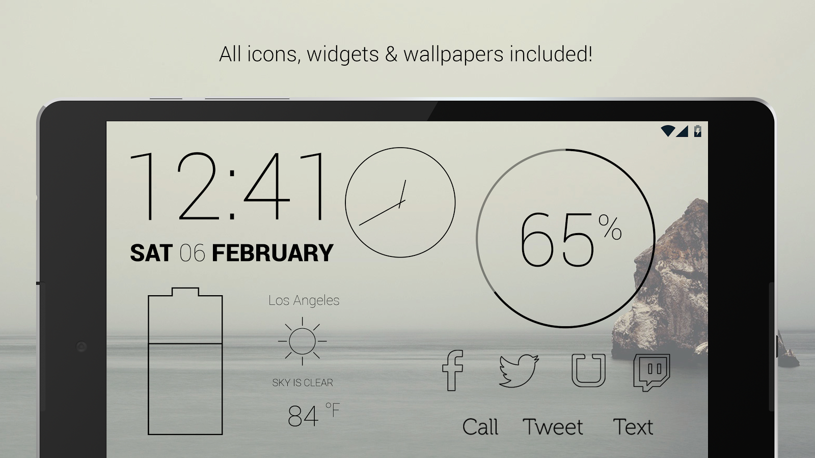 Lines Dark - Flat Black Icons Screenshot 8