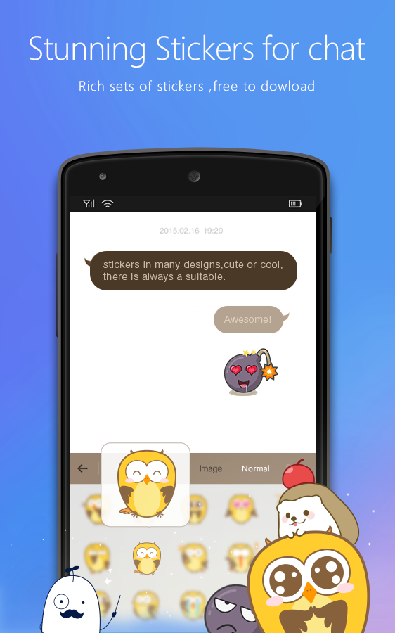 Flash Keyboard - Emojis & More Screenshot 1