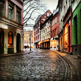 Oldstreet by Julija Moroza Broberg - Buildings & Architecture Public & Historical ( old, narrow, colors, town, oldtown.street )
