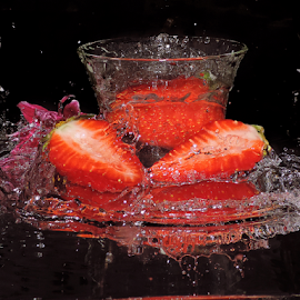 strawberry in the glass by LADOCKi Elvira - Food & Drink Fruits & Vegetables ( fruits )